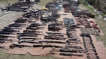 In photos: Pakistani forces seize massive weapon cache in Kurram Agency