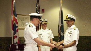 Pakistani navy safeguards international waters