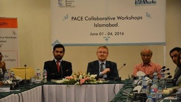 Conferees discuss avenues to fighting terrorism and promoting tolerance at a June 1-4 training workshop in Islamabad. PACE held the event. [Javed Mahmood]