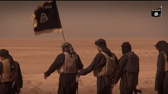 Screen shot of a video produced by ISIL named 'See you in Dabiq' depicting ISIL fighters preparing for an end of the world battle.
