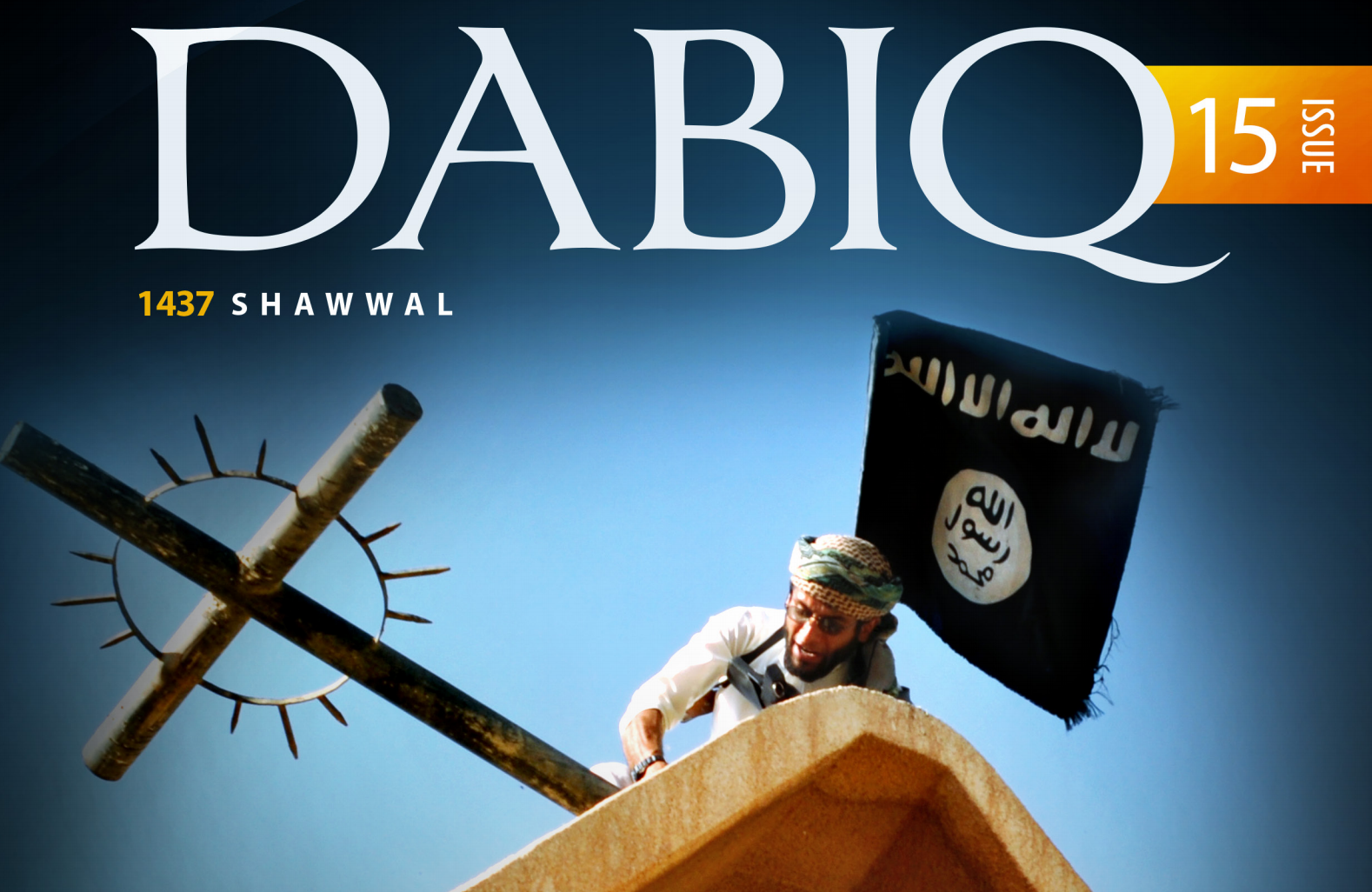 Cover of ISIL's latest English language propaganda magazine called 'Dabiq'.
