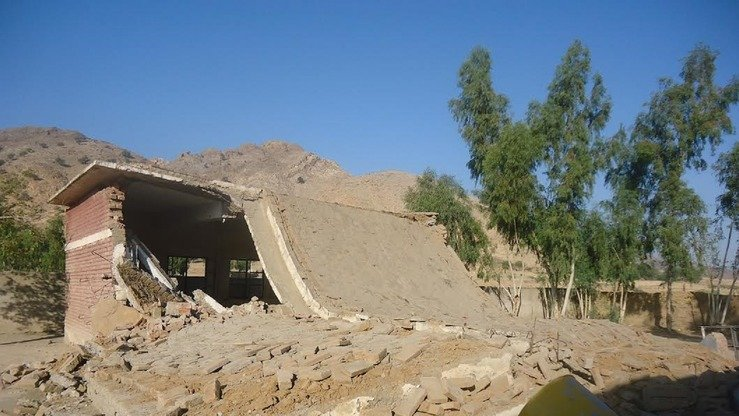 The rubble of a Taliban-bombed school in Mohmand Agency is shown on November 26. [Courtesy of Ashfaq Yusufzai]