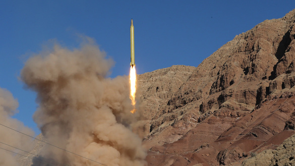 A long-range Qadr ballistic missile is launched in the Alborz mountain range in northern Iran on March 9, 2016. Iran said its armed forces had fired two more ballistic missiles as it continued tests in defiance of international warnings. [Mahmood Hosseini/TASNIM NEWS/AFP]