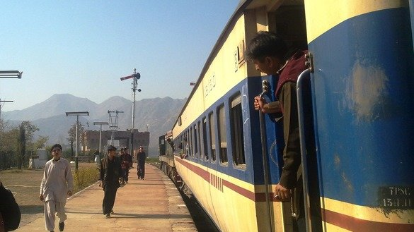 The re-invigorated Safari Train is shown at Attock railway station in Punjab February 12. The train is expected to promote the hard-won peace in Khyber Pakhtunkhwa.  [Danish Yousafzai]