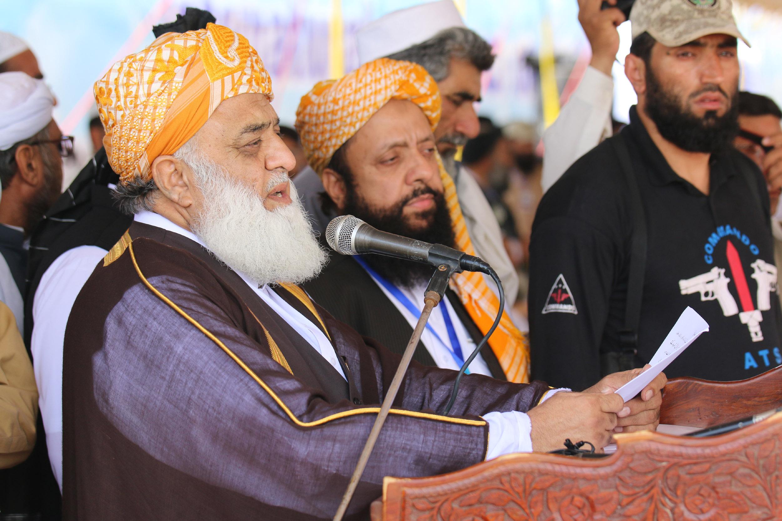 جمعيت علماء اسلام (ف) په سليزه غونډه کې د ترهګرۍ غندنه او د سولې غوښتنه کوي
