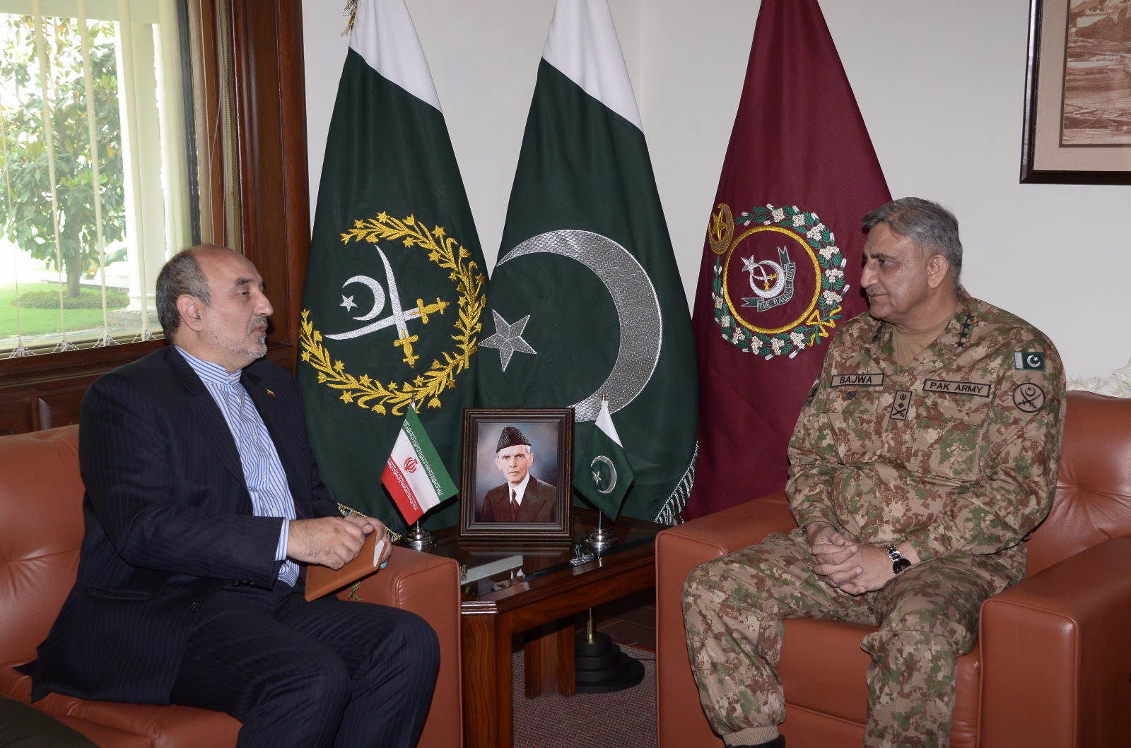 "Iranian ambassador to Pakistan Mehdi Honardoost met with Chief of Army Staff General Qamar Javed Bajwa on April 19 to discuss ""evolving regional security matrix"". The meeting occurred a week after the Iranian embassy in Islamabad issued a statement rejecting ""rumors"" about Iran's involvement in recruiting militants. [ISPR]"
