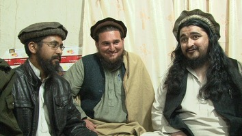 Ehsanullah Ehsan (centre) is shown in an undated photograph with the late Tehreek-e-Taliban Pakistan (TTP) chief Hakimullah Mehsud (right) and Khalid Balti alias Muhammad Khurasani, Ehsan's successor as militant spokesman. [Courtesy of Muhammad Ahil]