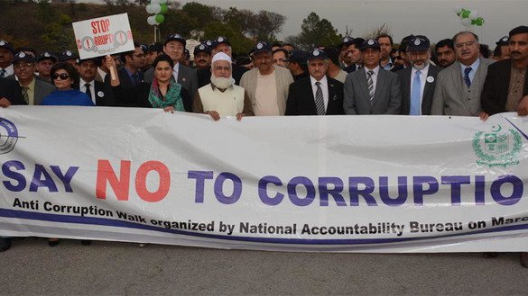 Officials and activists march in Islamabad in March 2016 to raise awareness of corruption. [Courtesy of Pakistani National Accountability Bureau]