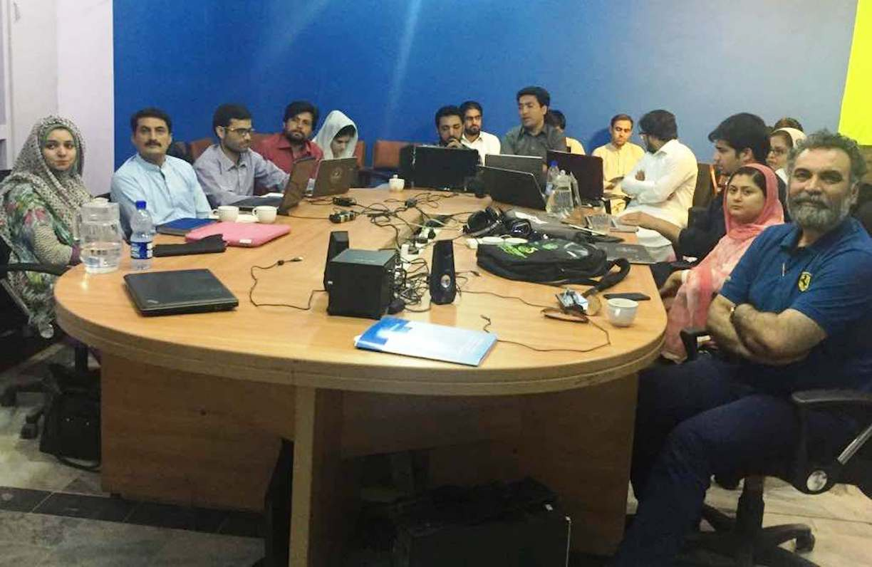 Journalism students in Peshawar, Australia link up