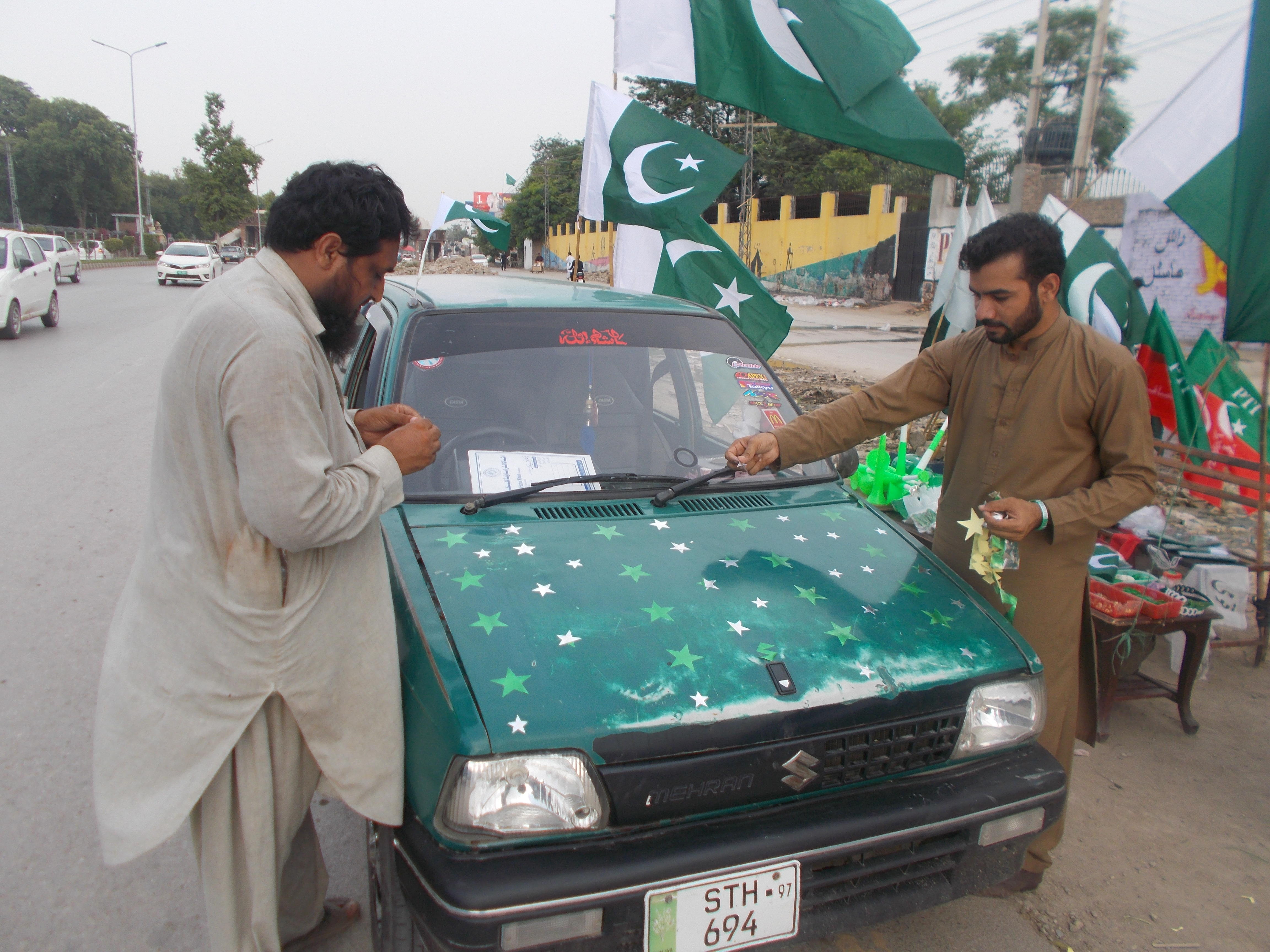 Pakistanis celebrate dwindling of militancy ahead of Independence Day