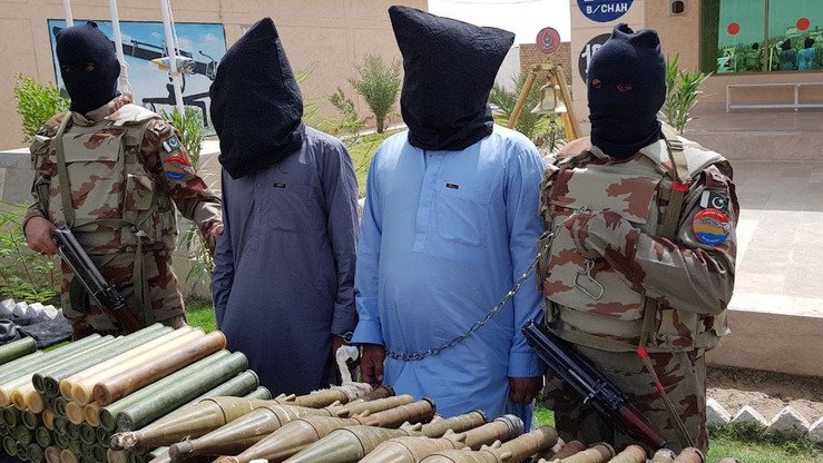 As part of Operation Radd-ul-Fasadd, Frontier Corps (FC) Balochistan conducted special intelligence based operations against militants August 26-27, 2017, arresting two terrorist facilitators and confiscating a large arms cache. [Inter Services Public Relations]