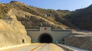 Newly inaugurated Nahakki Tunnel in Mohmand Agency is shown in September. [Alamgir Khan]