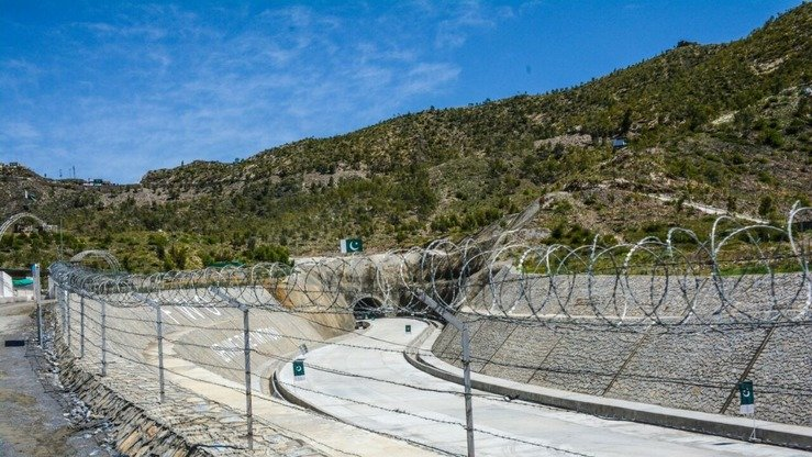 Nahakki Tunnel in Mohmand Agency is shown from the outside in April 2017. [Alamgir Khan]