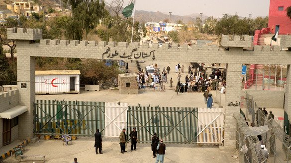 Khasadar Forces are now in charge of security at the Torkham border post between Pakistan and Afghanistan, pictured here in March. The Pakistani government has extended the Federal Investigation Agency (FIA) Act to five villages in Torkham and is considering extending the Police Act to FATA. [Javed Khan]