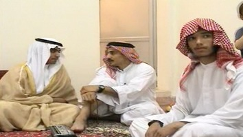Hamza bin Laden (left), the son of late al-Qaeda leader Osama bin Laden, celebrates his wedding in Iran in a screenshot taken from a video released by the CIA November 1.