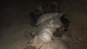 Pakistani troops seized components for making IEDs hidden by terrorists in Khyber Agency. [ISPR]