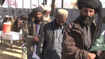 More than 300 Balochistan militants surrendered their arms to authorities in Quetta December 9. [Abdul Ghani Kakar]