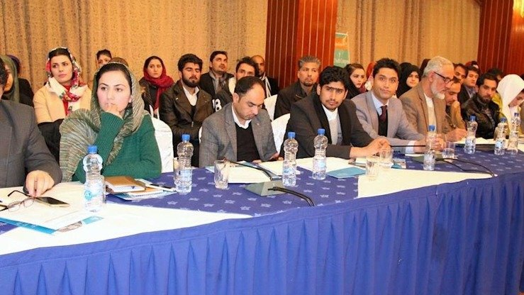 Youth from Pakistan and Afghanistan take part in a conference in Kabul December 20. [Sulaiman]