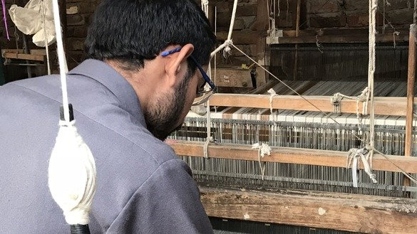 Hafeez ur Rahman says that one learn the basic skills for making shawls after 18 months of training. In Swat a number of NGOs have established training workshops to enhance the skills of local artisans. [Danish Yousafzai]