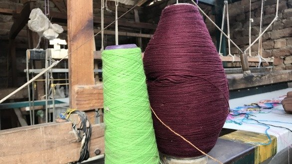 The most commonly used raw materials to produce shawls in Islampur are local wool, Australian wool, Pakistani wool, Chinese wool, artificial silk, nylon and cotton. [Danish Yousafzai]