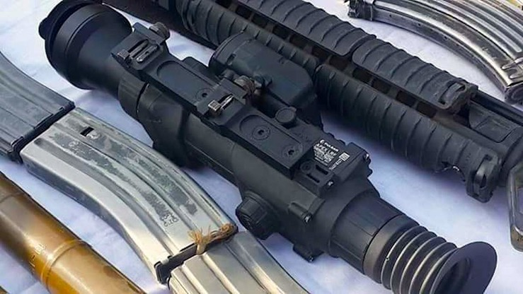 Russian-made rifle scopes shown in this undated photo were seized from Taliban militants during an Afghan operation in Farah Province on September 28, 2017. [Farah governor's press office]