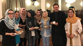 Some 2,400 undergraduate and 600 graduate scholarships were awarded to Afghan students last September under the Allama Muhammad Iqbal Scholarship Programme. Some of the recipients pose with Afghan Ambassador to Pakistan Omar Zakhilwal February 27 in Islamabad. [Omar Zakhilwal/Twitter]