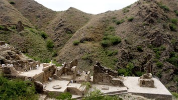 The ruins, which include a Buddhist monastery and monks' living quarters, are positioned on various hilltops ranging from 36.6-152.4 metres in height, according to UNESCO. [KP Directorate of Archaeology and Museums]