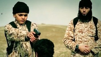 A 10-minute propaganda video released by ISIS last year includes a number of scenes of children brandishing handguns and shooting ISIS prisoners. ISIS's Khorasan branch has continued the inhumane recruitment of children in Afghanistan. [FILE]