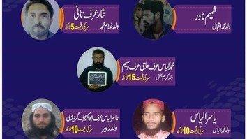 پولیس کی جانب سے ڈیرہ اسماعیل خان میں مطلوب دہشتگردوں پر انعام کا اعلان
