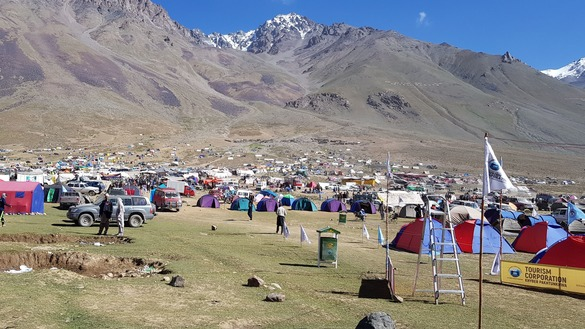 Every year, the Tourism Corporation of Khyber Pakhtunkhwa sets up thousands of tents to facilitate tourists during the Shandur Polo Festival. [Danish Yousafzai]