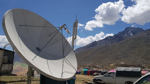 Special communication arrangements were made for the three days of the festival. Telecom services are typically spotty in Shandur Valley. [Danish Yousafzai]