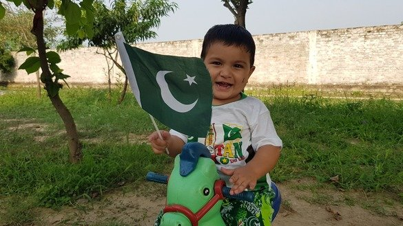 Mikail Ali, 3, of Peshawar is set to mark the special day. [Danish Yousafzai]