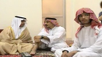 Hamza bin Laden (left), the son of late al-Qaeda leader Osama bin Laden, celebrates his wedding in Iran in screenshot taken from a video released by the CIA November 1, 2017. Osama bin Laden's son Hamza has long thought lived under Iranian protection, and the late al-Qaeda leader even wrote a letter to Iran's Supreme Leader Ayatollah Ali Khamenei.