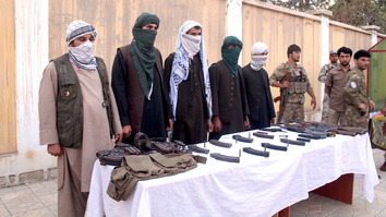 A group of five Taliban fighters, led by Mullah Dur Mohammad, joined the peace process September 23 in Kunduz city. [Hedayatullah]