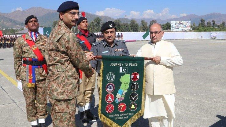 Pakistani army transfers power to civilian authorities in