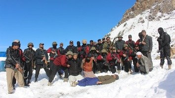 A special squad of the KP Police takes part in a counter-terrorism exercise in Chitral District November 30. [KP Police]