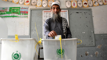 A man votes in Peshawar last July 25 during general elections. [Adeel Saeed]