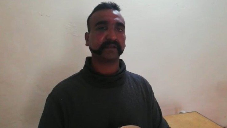 One Indian pilot, Wing Commander Abhi Nandan (shown), is in custody, say Pakistani military officials. [ISPR]