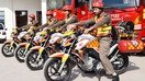 Peshawar firefighters get motorcycles to tackle hard-to-reach fires